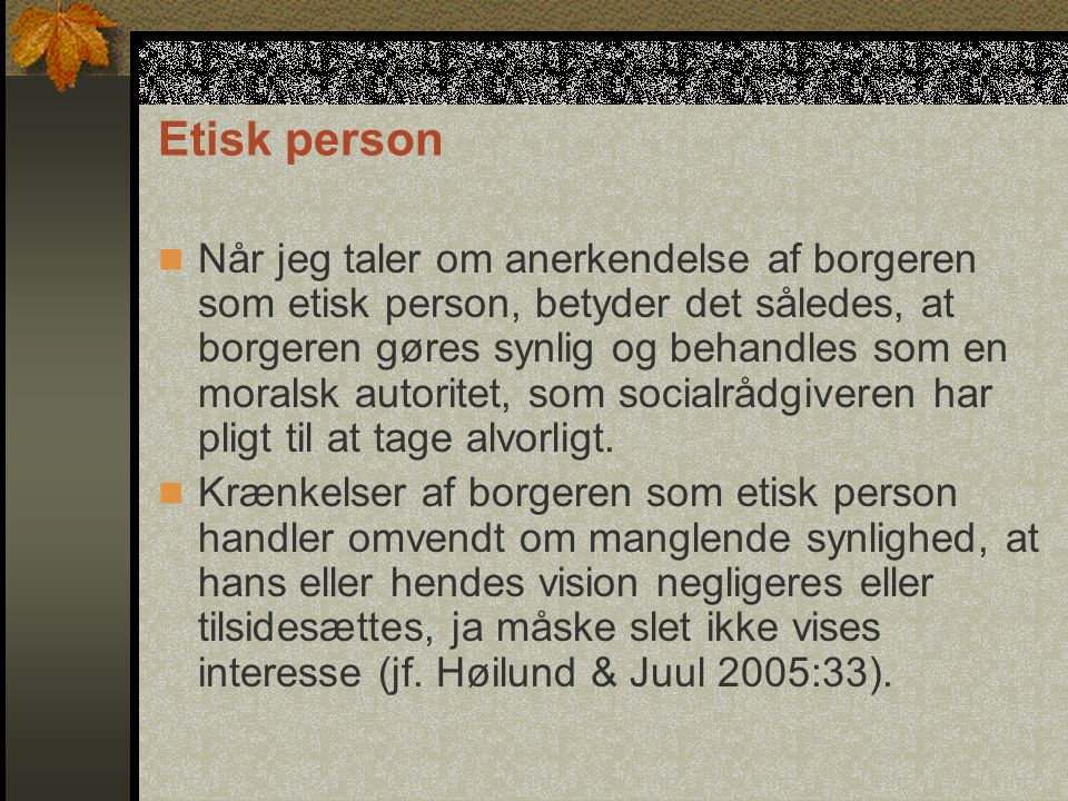 Etisk person