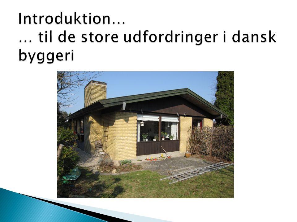 Introduktion… … til de store udfordringer i dansk byggeri