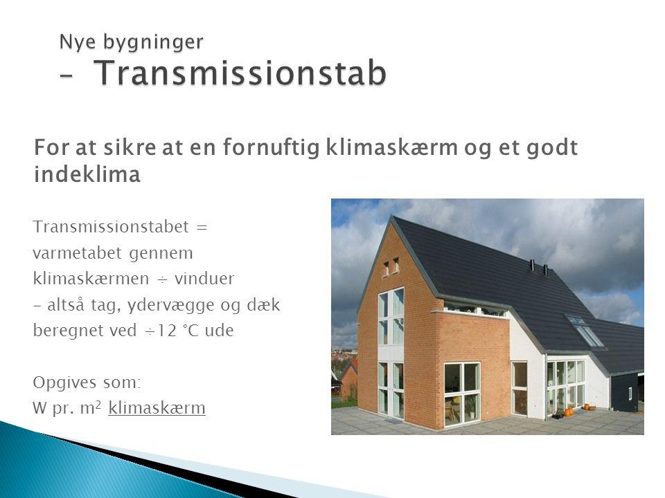 Nye bygninger – Transmissionstab
