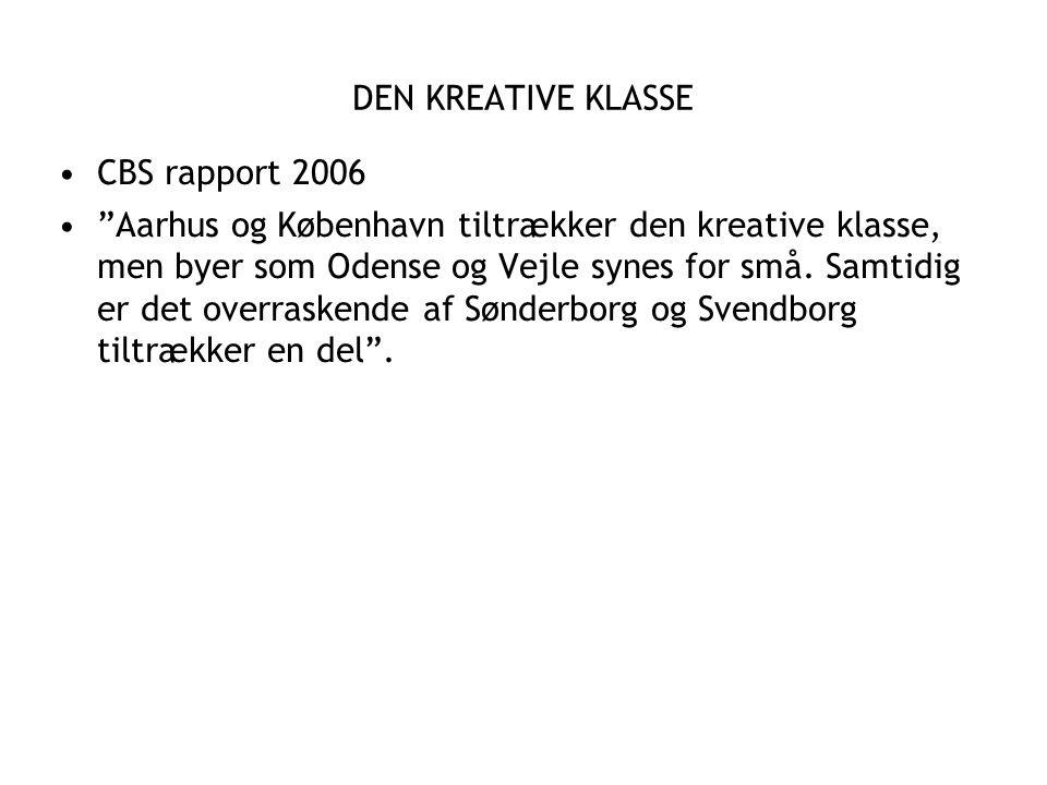 DEN KREATIVE KLASSE CBS rapport 2006.