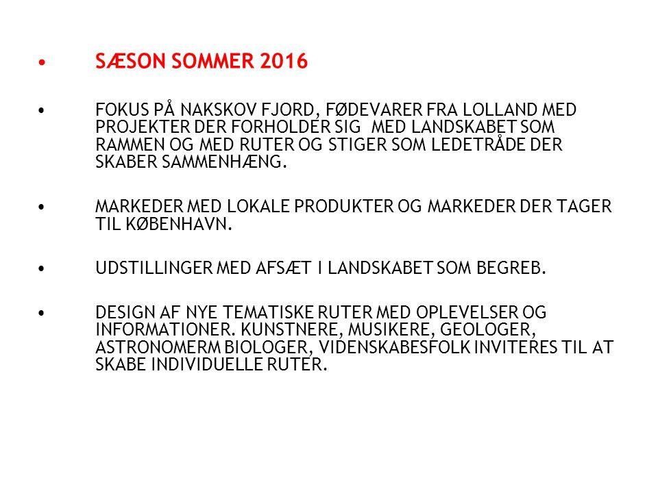 SÆSON SOMMER 2016