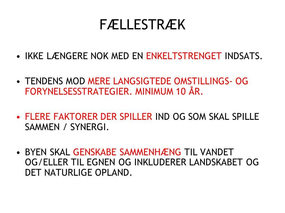 FÆLLESTRÆK IKKE LÆNGERE NOK MED EN ENKELTSTRENGET INDSATS.