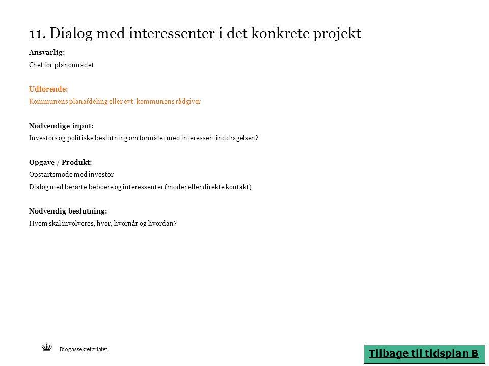 11. Dialog med interessenter i det konkrete projekt