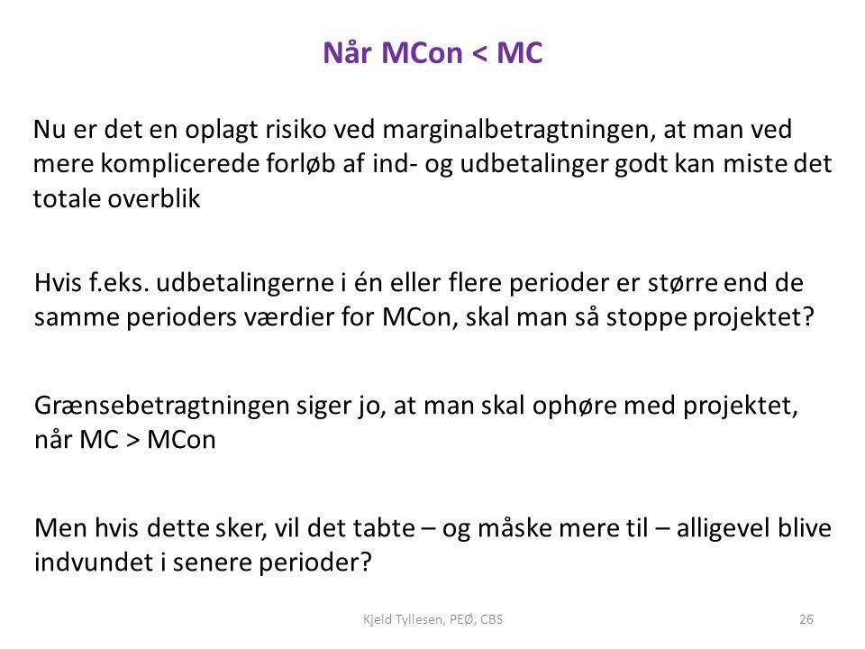 Når MCon < MC