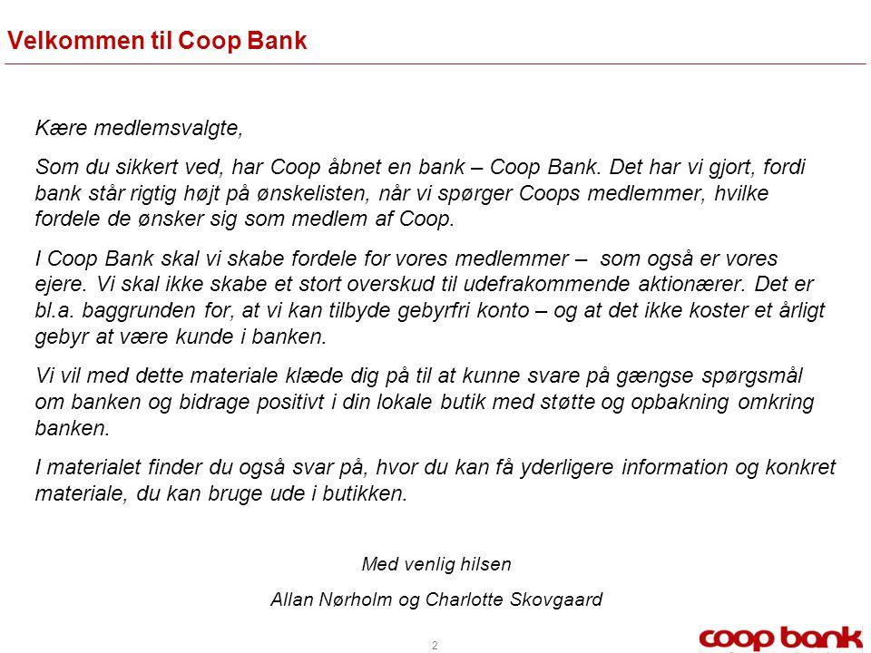 Velkommen til Coop Bank