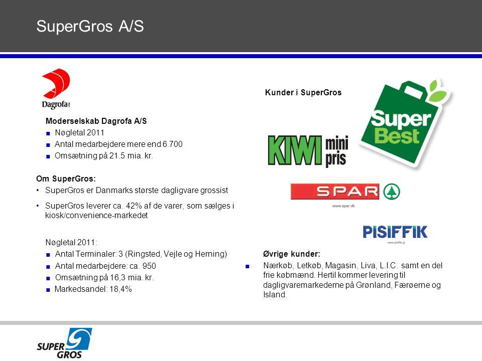 SuperGros A/S Kunder i SuperGros Moderselskab Dagrofa A/S