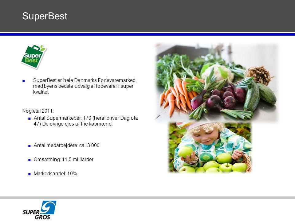 SuperBest SuperBest er hele Danmarks Fødevaremarked, med byens bedste udvalg af fødevarer i super kvalitet.