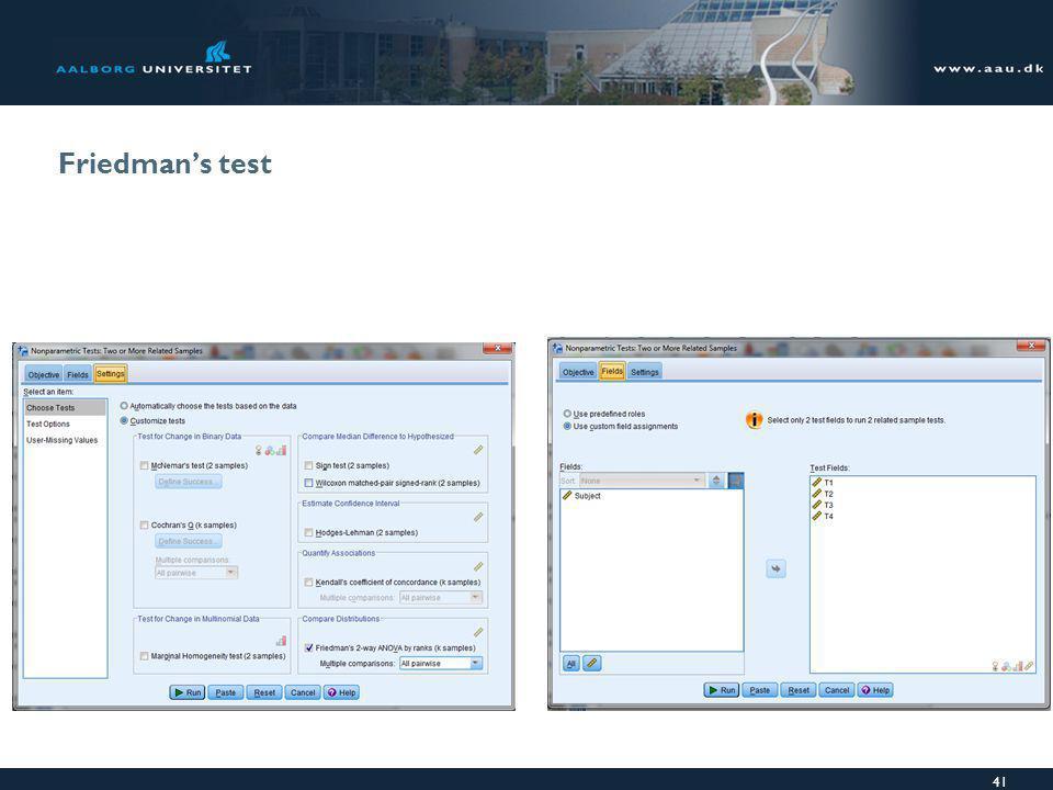 Friedman's test