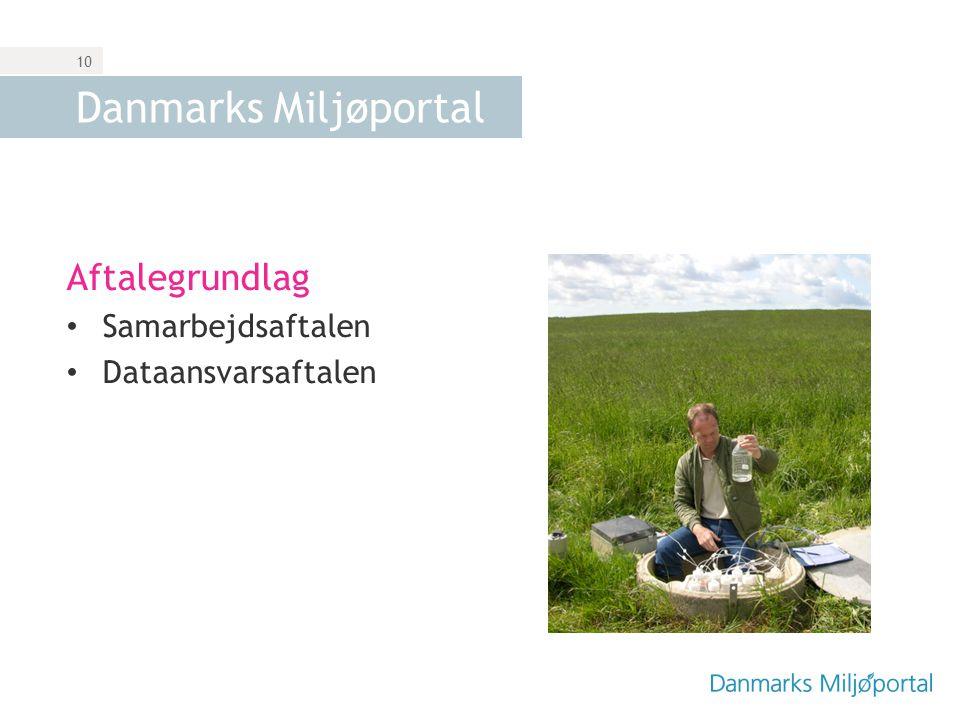 Danmarks Miljøportal Aftalegrundlag Samarbejdsaftalen
