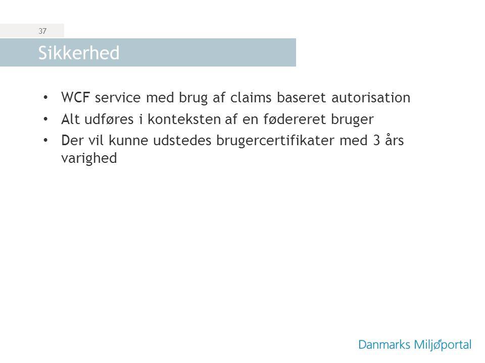 Sikkerhed WCF service med brug af claims baseret autorisation