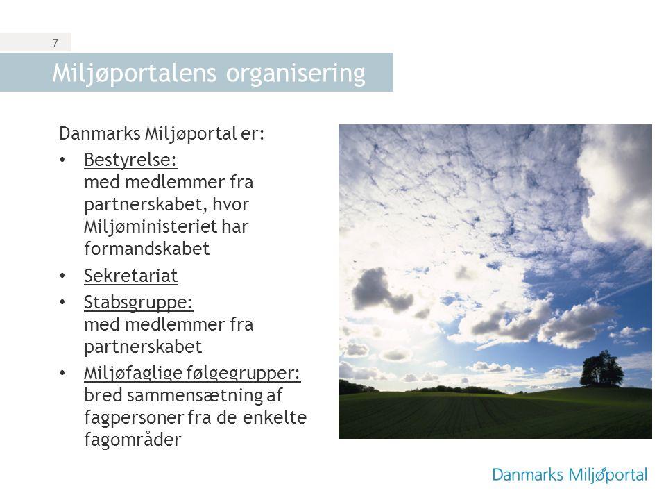 Miljøportalens organisering