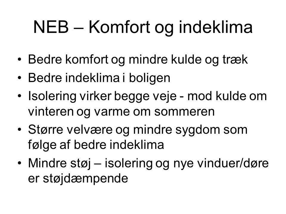 NEB – Komfort og indeklima
