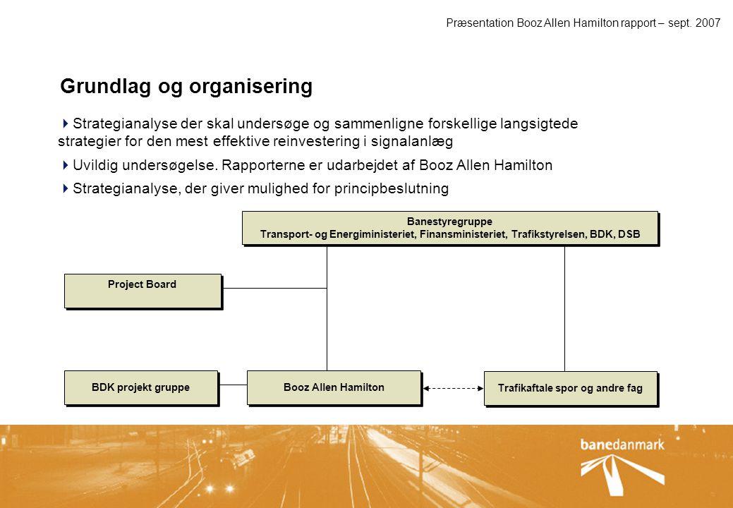 Præsentation Booz Allen Hamilton rapport – sept. 2007