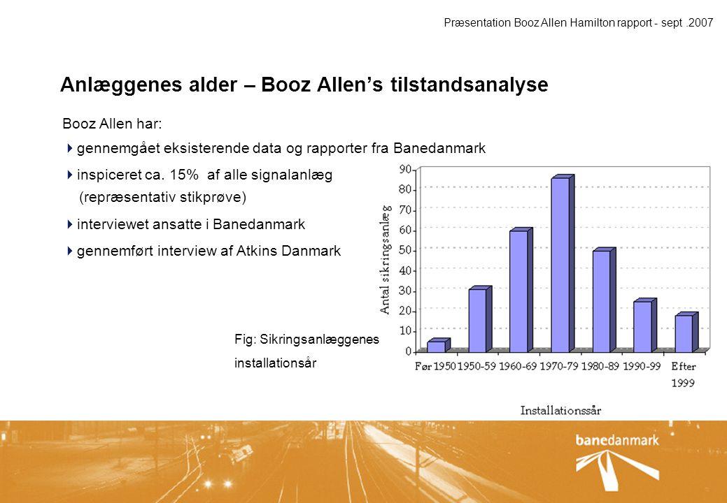 Anlæggenes tilstand – Booz Allen's vurdering