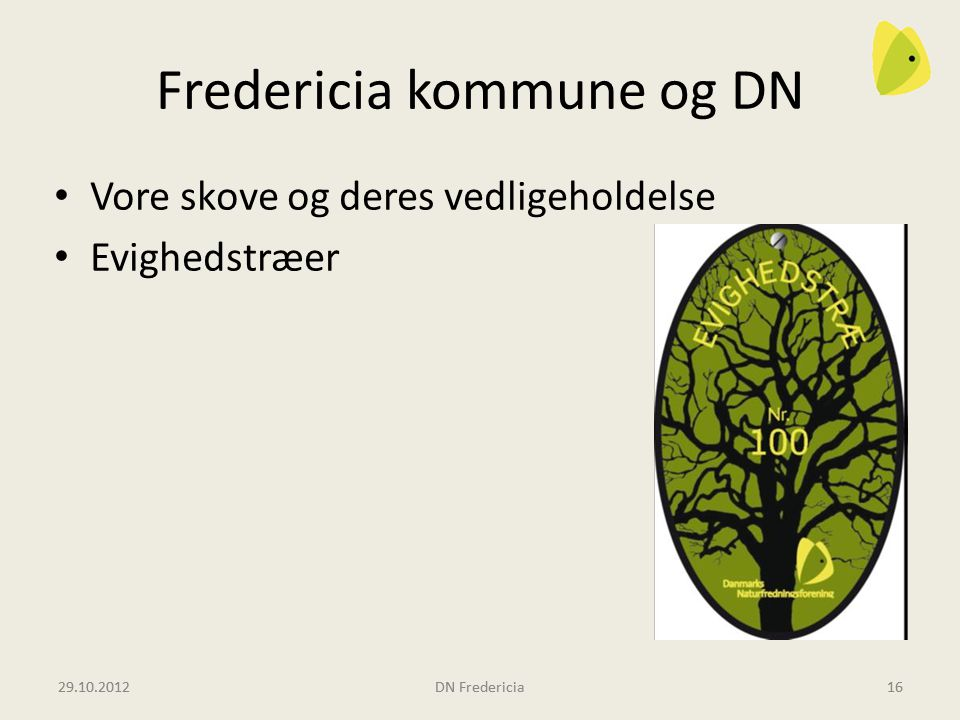Fredericia kommune og DN