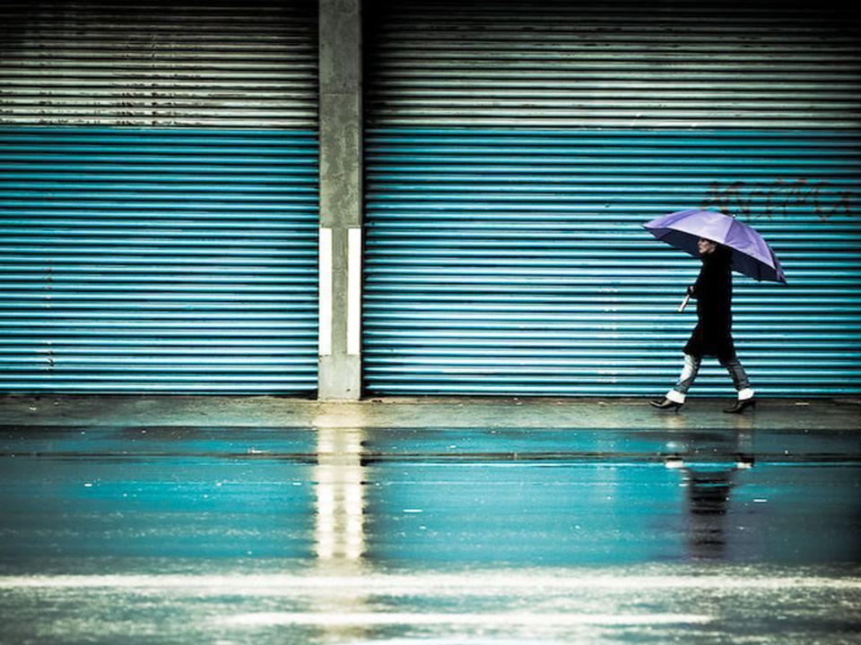 Billede af regn