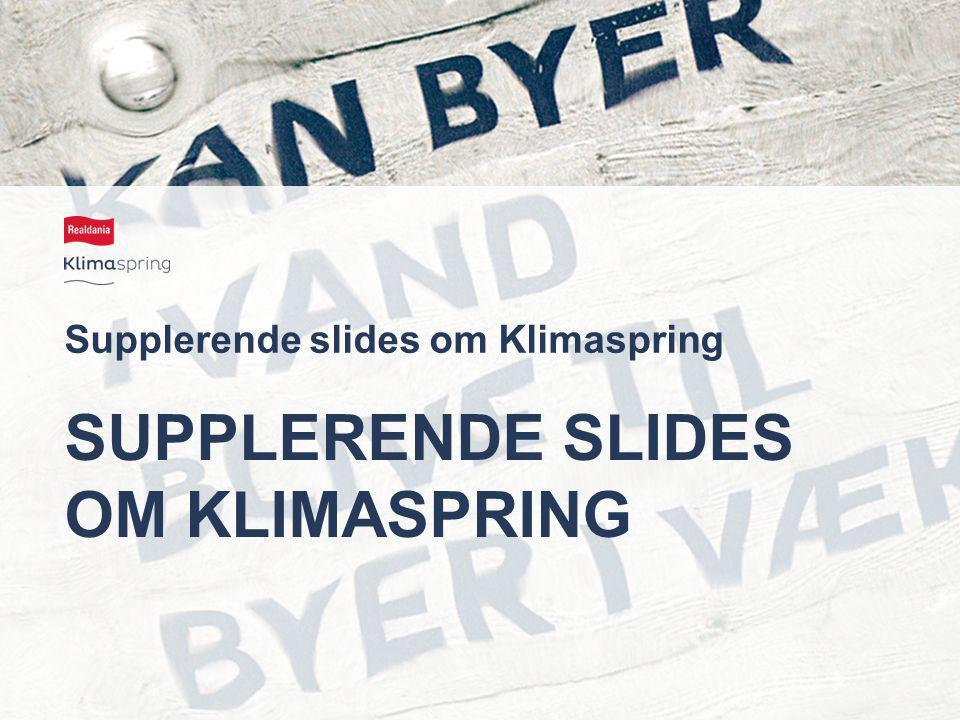 Supplerende slides om Klimaspring