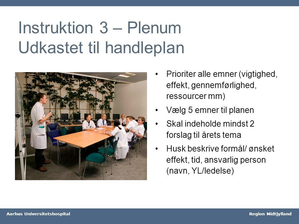 Instruktion 3 – Plenum Udkastet til handleplan