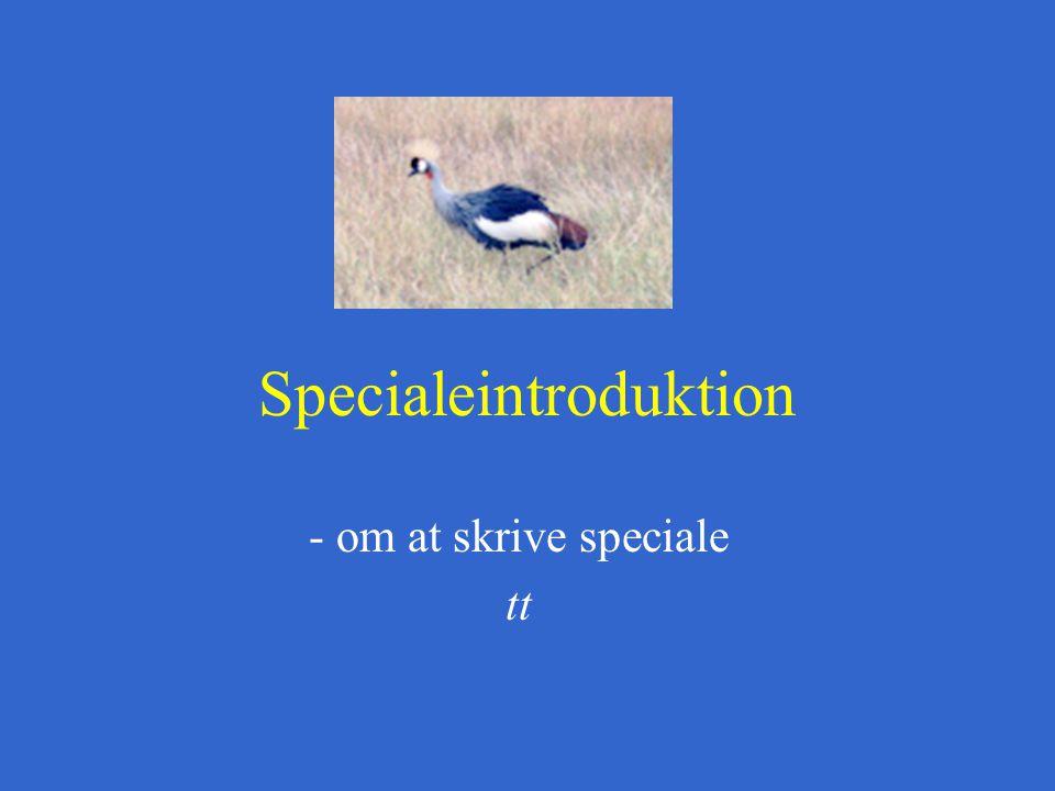 Specialeintroduktion