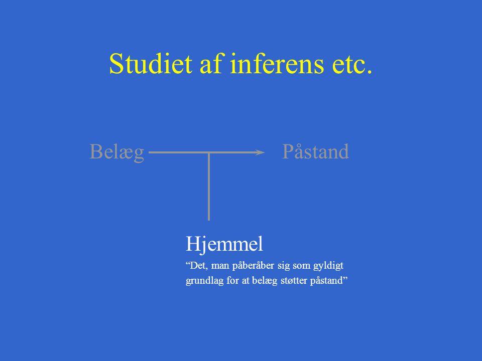 Studiet af inferens etc.