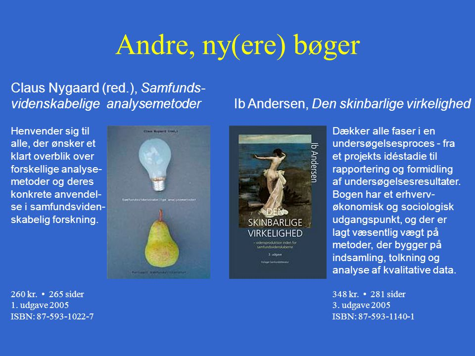 Andre, ny(ere) bøger Claus Nygaard (red.), Samfunds-