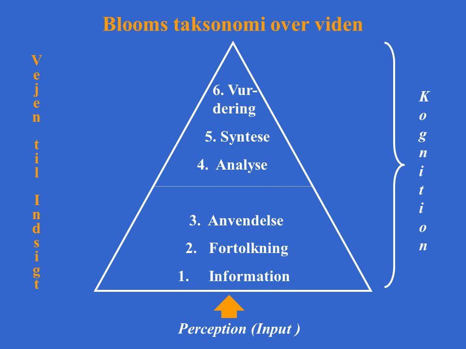 Blooms taksonomi over viden
