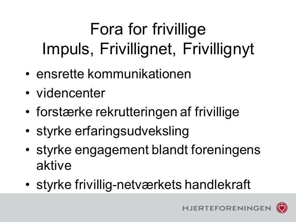 Fora for frivillige Impuls, Frivillignet, Frivillignyt