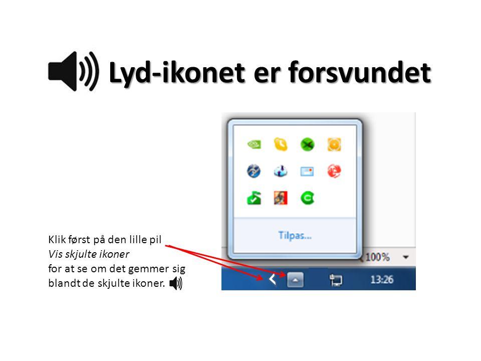 Lyd-ikonet er forsvundet