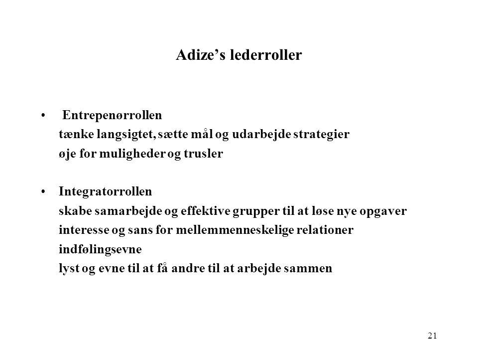 Adize's lederroller Entrepenørrollen