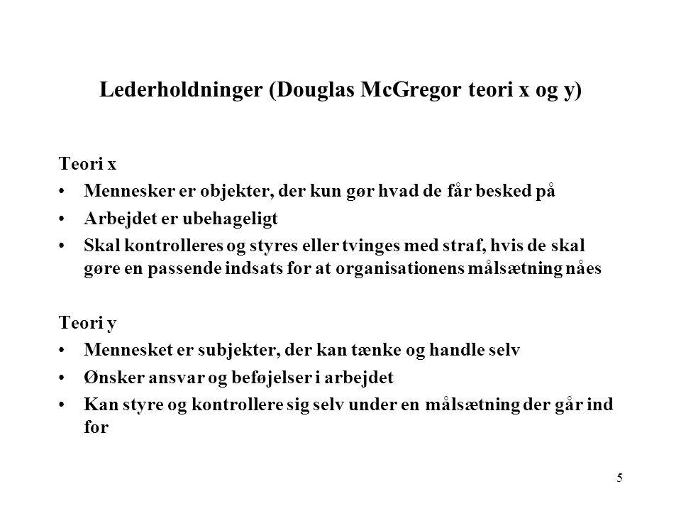 Lederholdninger (Douglas McGregor teori x og y)