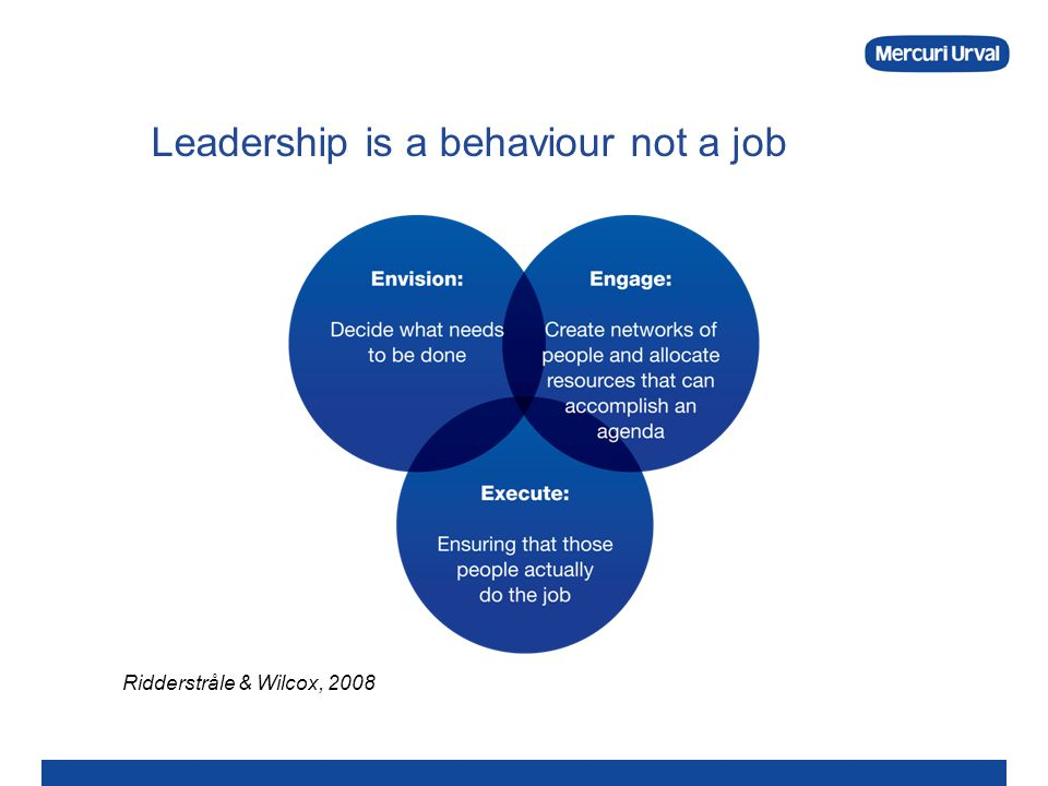 Leadership is a behaviour not a job