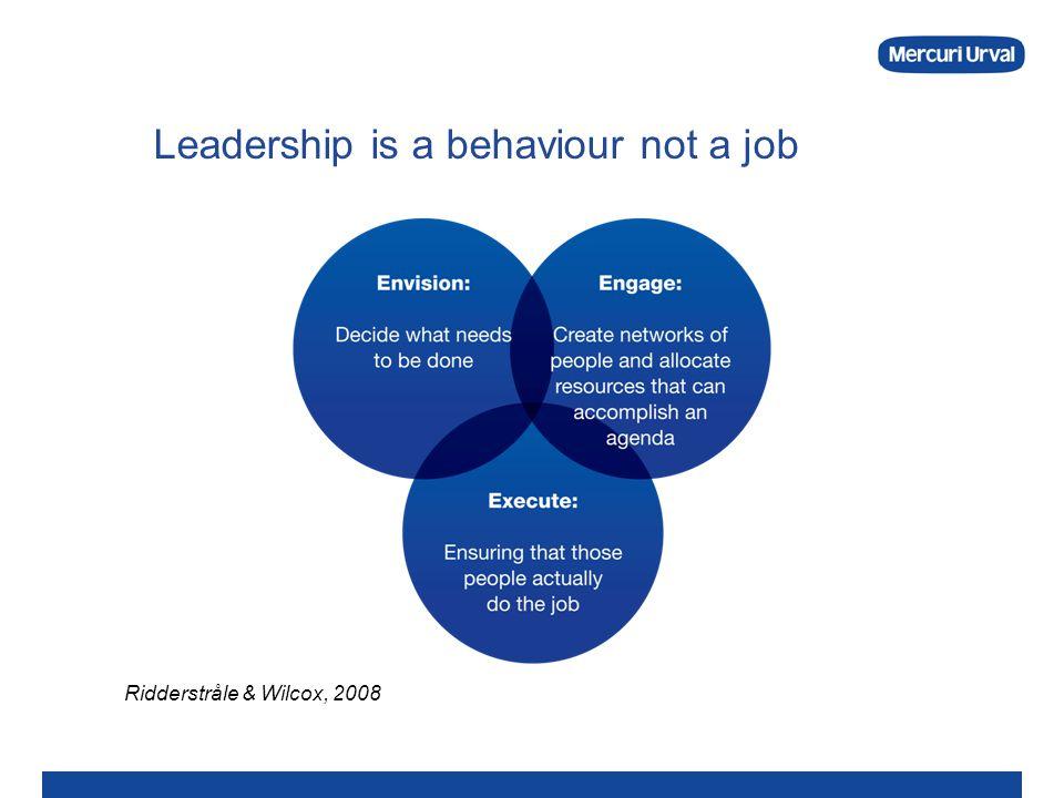 Leadership is a behaviour not a job