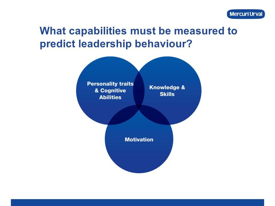 What capabilities must be measured to predict leadership behaviour