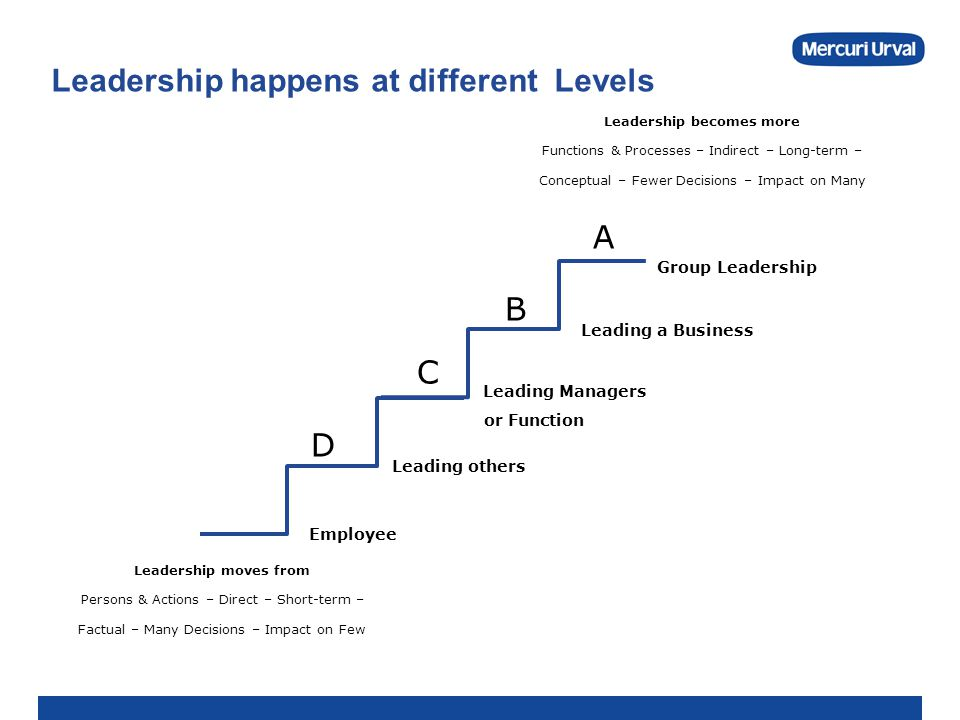 Leadership happens at different Levels