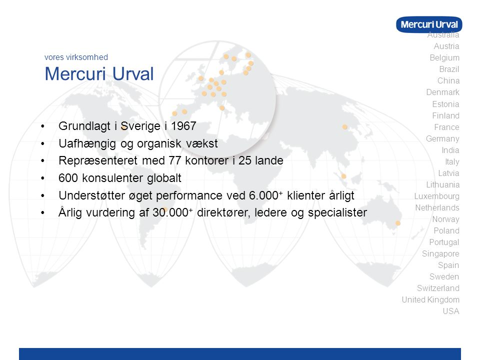 vores virksomhed Mercuri Urval