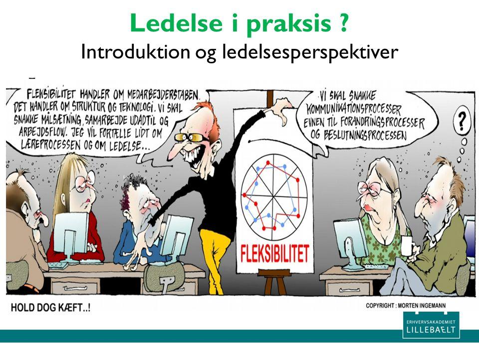 Ledelse i praksis Introduktion og ledelsesperspektiver