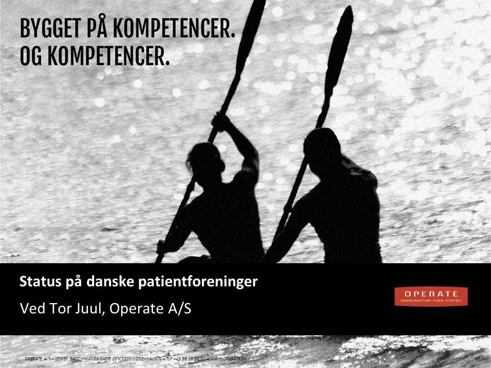 Status på danske patientforeninger
