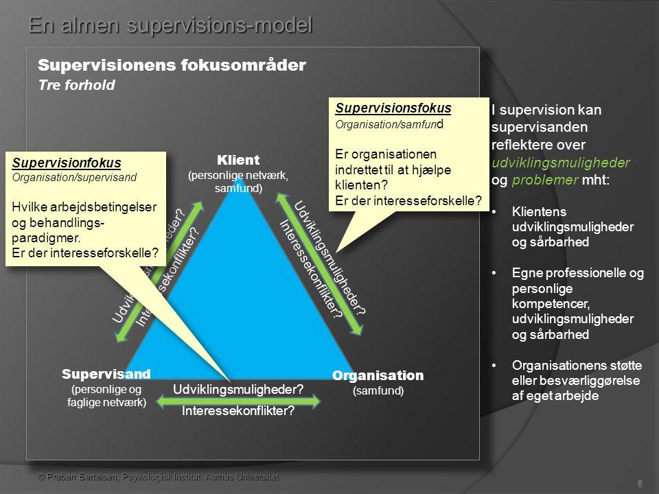 En almen supervisions-model