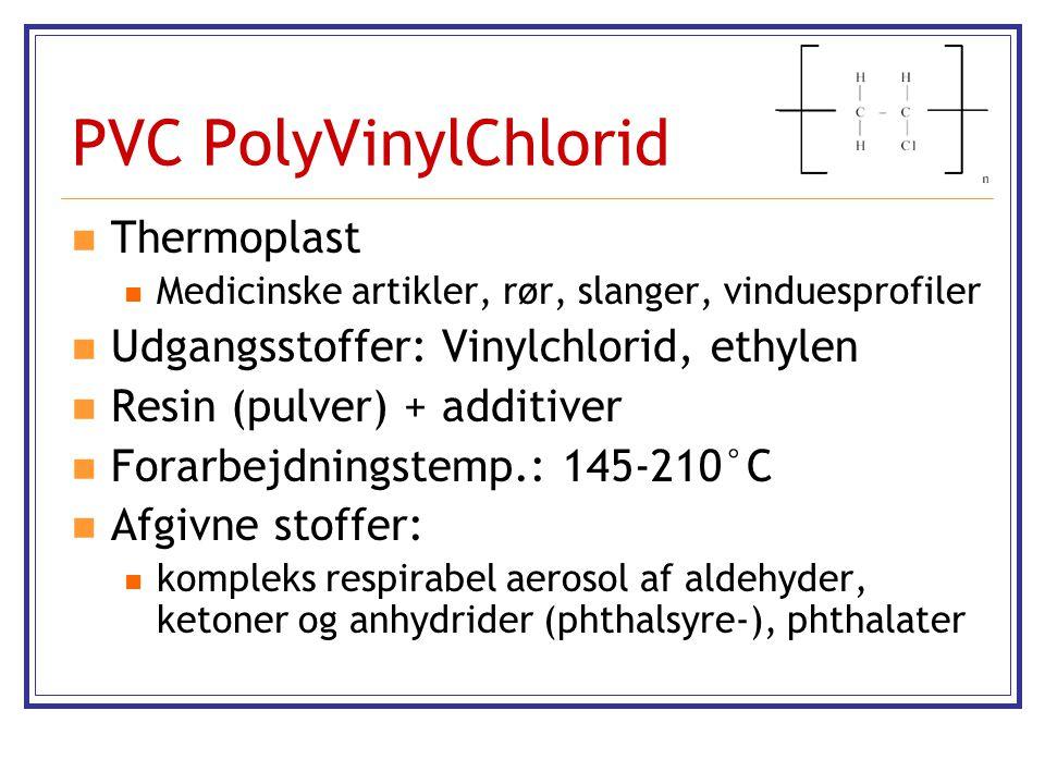 PVC PolyVinylChlorid Thermoplast Udgangsstoffer: Vinylchlorid, ethylen