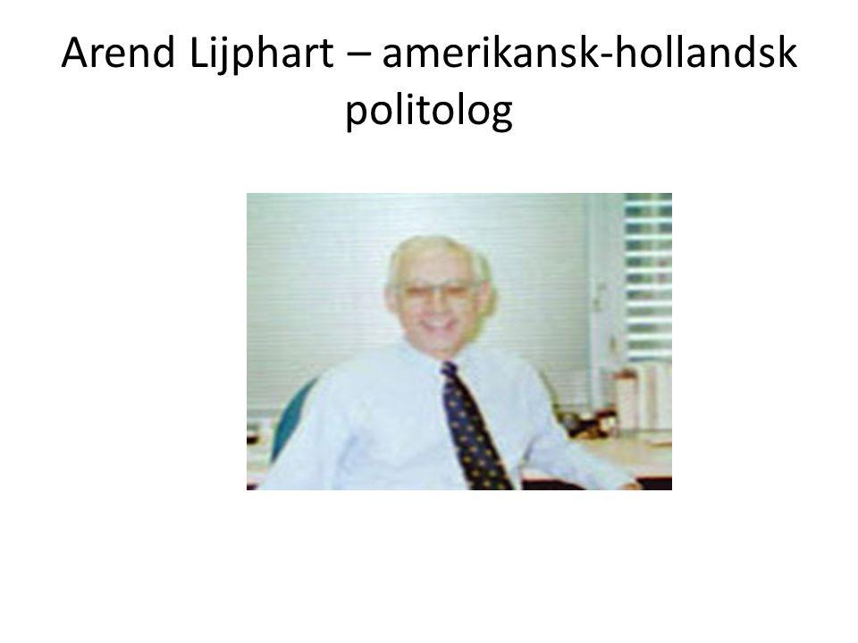 Arend Lijphart – amerikansk-hollandsk politolog