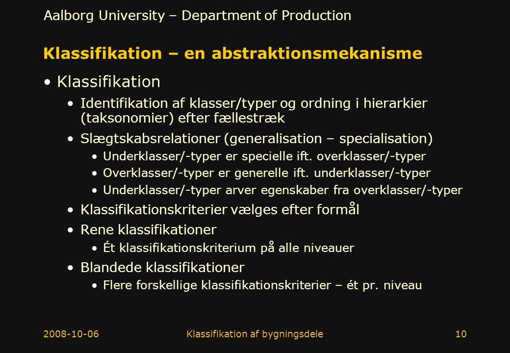Klassifikation – en abstraktionsmekanisme