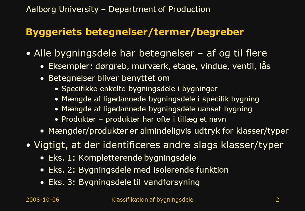Byggeriets betegnelser/termer/begreber