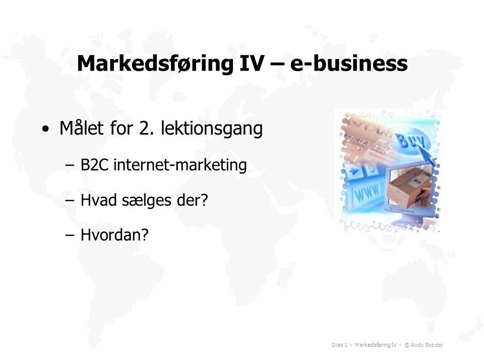 Markedsføring IV – e-business