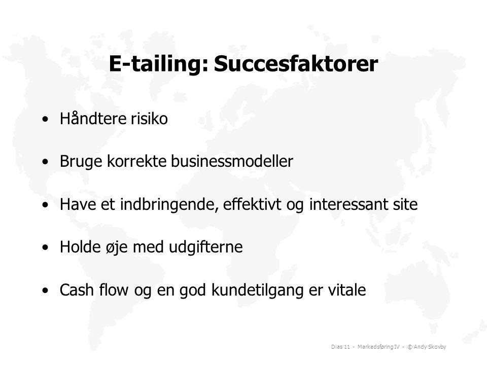 E-tailing: Succesfaktorer