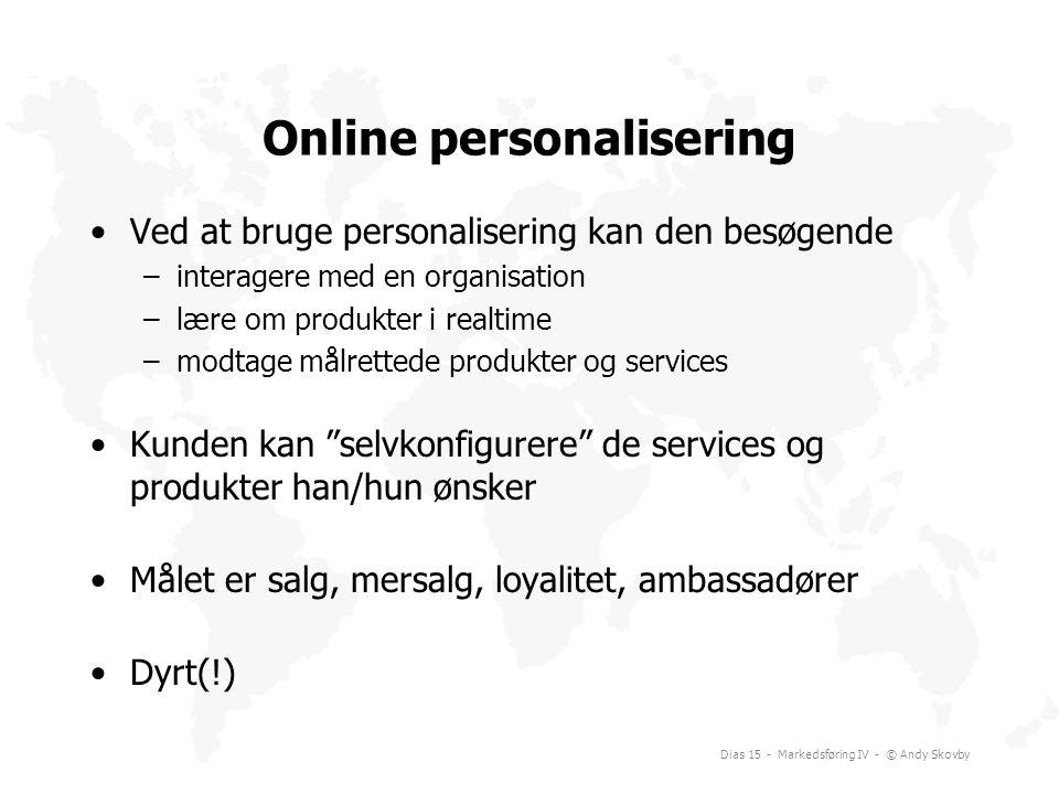 Online personalisering