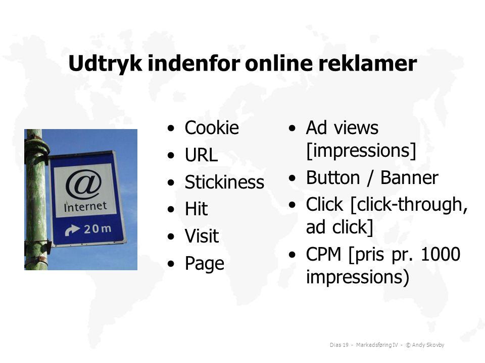 Udtryk indenfor online reklamer