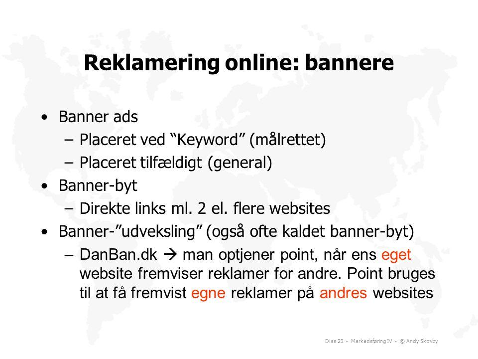 Reklamering online: bannere