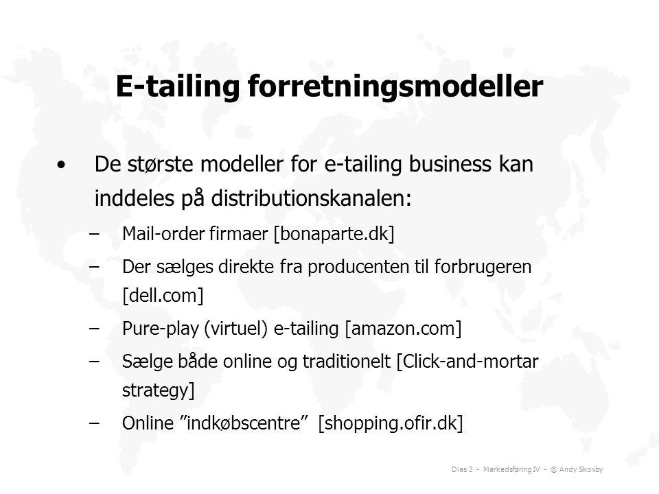 E-tailing forretningsmodeller