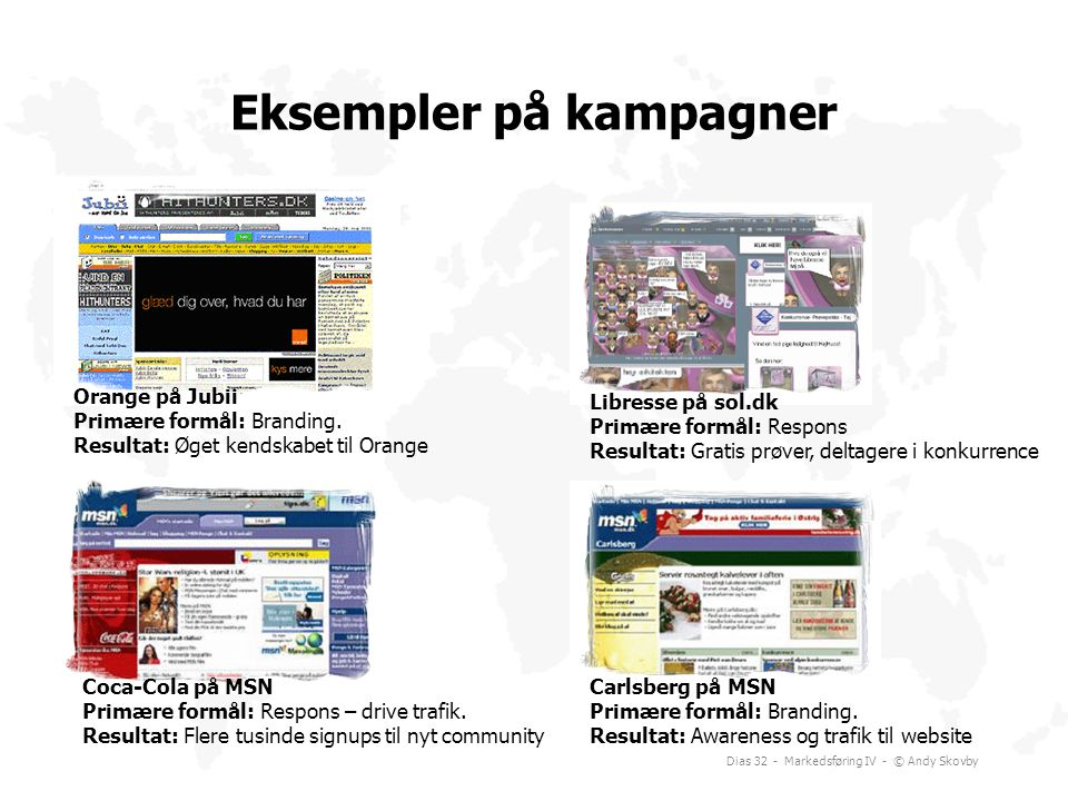 Eksempler på kampagner