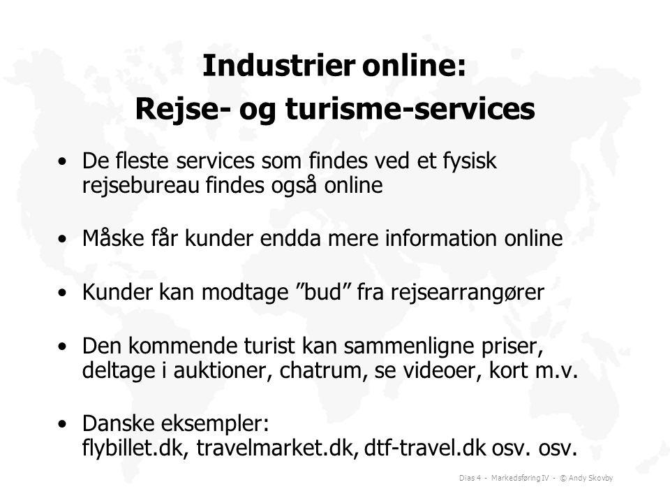 Industrier online: Rejse- og turisme-services